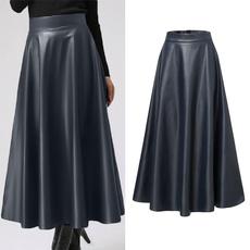 black skirt, Plus Size, looseskirt, Pleated
