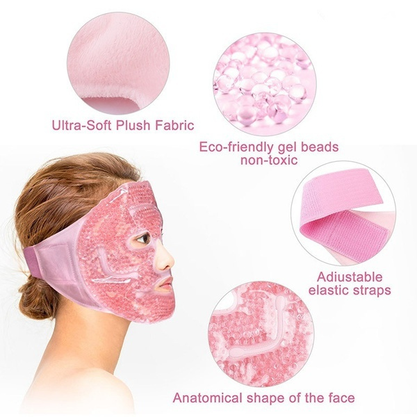 pink, coldfacemask, Fashion, hotcoldtherapy