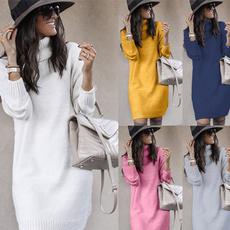 knitwear, Plus Size, sweater dress, Long Sleeve