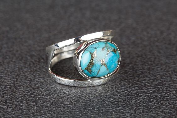 Sterling, Turquoise, DIAMOND, 925 sterling silver