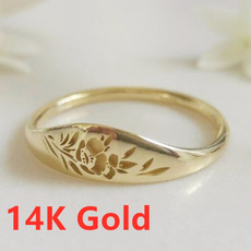 Flowers, 925 sterling silver, wedding ring, Hawaiian