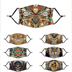 skullprintfacemask, nativeamericanfacemask, facemaskwithadjustableearloop, unisex