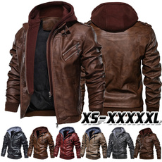 Casual Jackets, Plus Size, leather, Coat