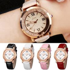 womensfashionampaccessorie, DIAMOND, leatherstrapwatch, leather strap