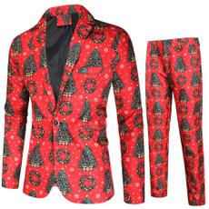 Casual Jackets, slim, Christmas, pants