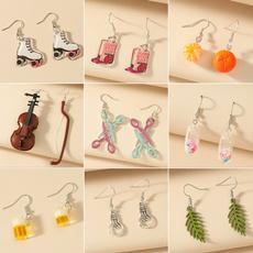 Violin, cute, scissorsearring, Dangle Earring