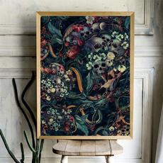 art print, skullsandsnake, Decor, Wall Art