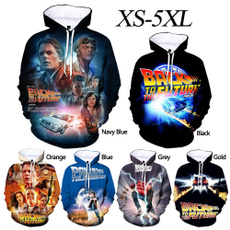 3D hoodies, Fashion, backtothefuture, Movie