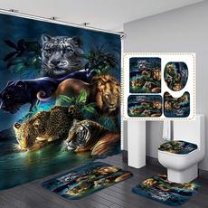 Tiger, Polyester, Bathroom Accessories, Home Decor