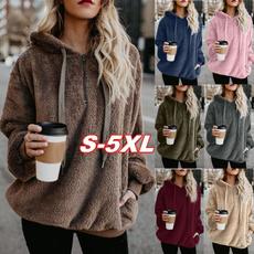 blouse, Plus Size, hooded, Women Hoodie