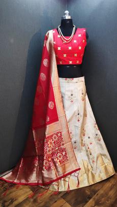 designerlahenga, padded, silk, lahengacholi