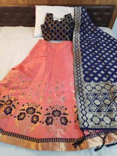 blouse, Fashion, banarasisilkweddinglahenga, peach