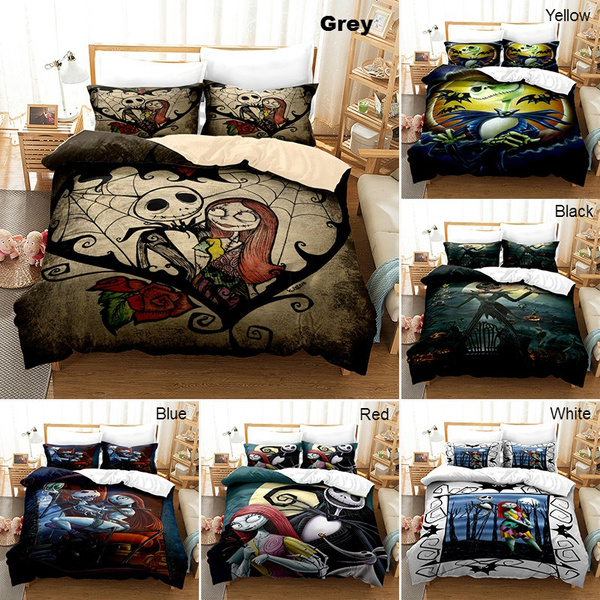 3d The Nightmare Before Christmas Bedding Set Comforter Cover With Pillow Cover 2pcs 3pcs Bedding Single Double Twin Full Queen King Size Skull Bed Set For Kids And Adults Wish