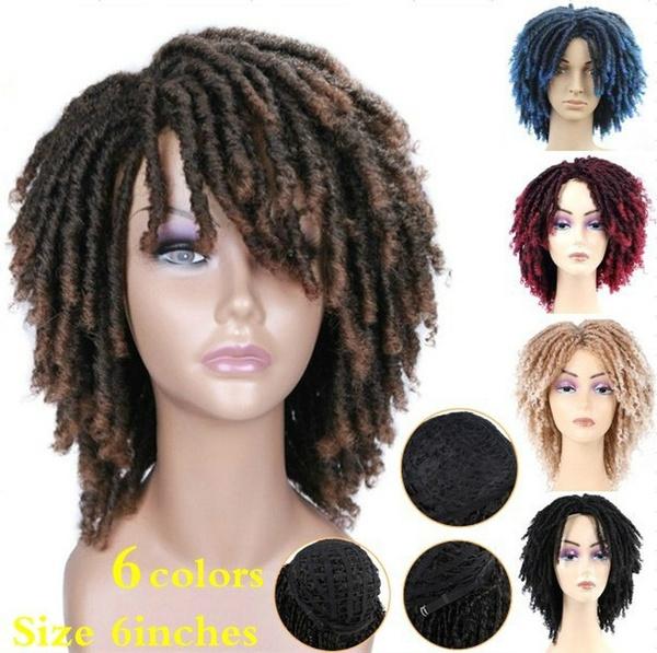 Black wig, wig, Shorts, fauxlocscrochetwig
