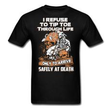 Funny, Funny T Shirt, Cotton T Shirt, skull
