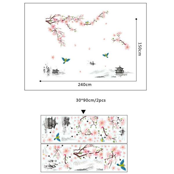 Decor, Flowers, art, cherryblossom