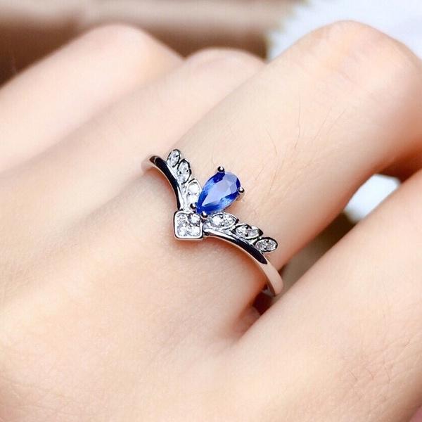 bluegreenmoissanite, adjustablering, DIAMOND, 925 sterling silver