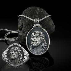 Head, Christian, Cross necklace, Jewellery