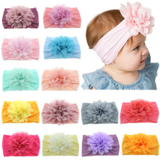 Flowers, Elastic, flowerhairband, babyhairband