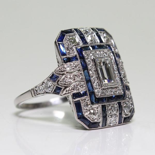 Antique, ringsformen, DIAMOND, 925 sterling silver