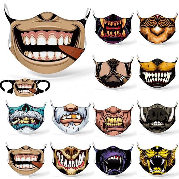 cartoonmask, Outdoor, funnyfacemask, Funny