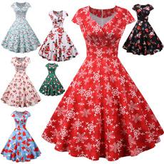 rucheddre, Swing dress, Evening Dress, Dress