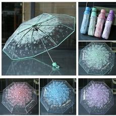 transparentumbrella, rainumbrella, flowerumbrella, threefoldumbrella