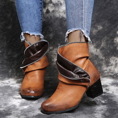 Womens Boots, Womens Shoes, roundtoeboot, midboot