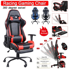 swivel, led, leathergamingchair, Office