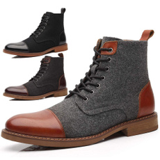 ankle boots, dress shoes, short boots, Leather Boots