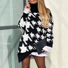 Fashion, ladiessweater, lapelsweater, Fashion Sweater