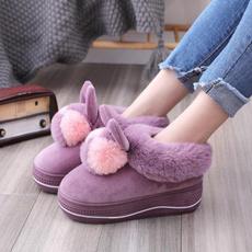 Slippers, Cotton, platformslipper, fur