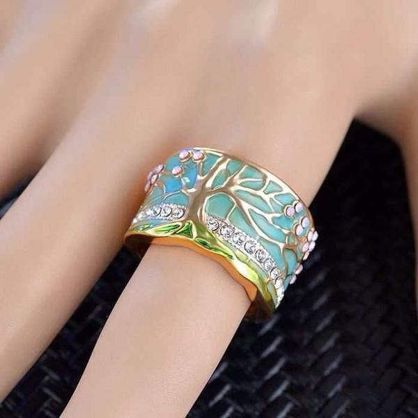 Fashion, wedding ring, treeflower, geometricring