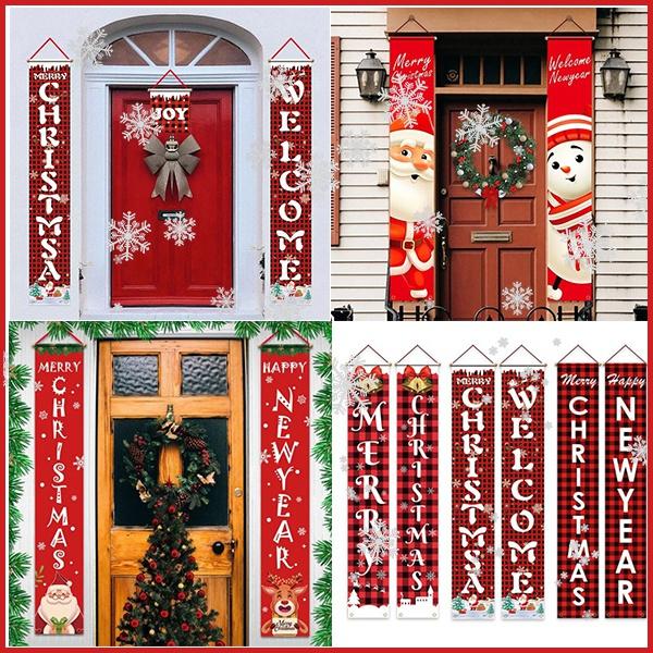 party, Decor, Door, Christmas