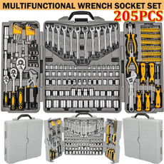 Steel, werkzeugkoffer, mechanicset, spannerwrench