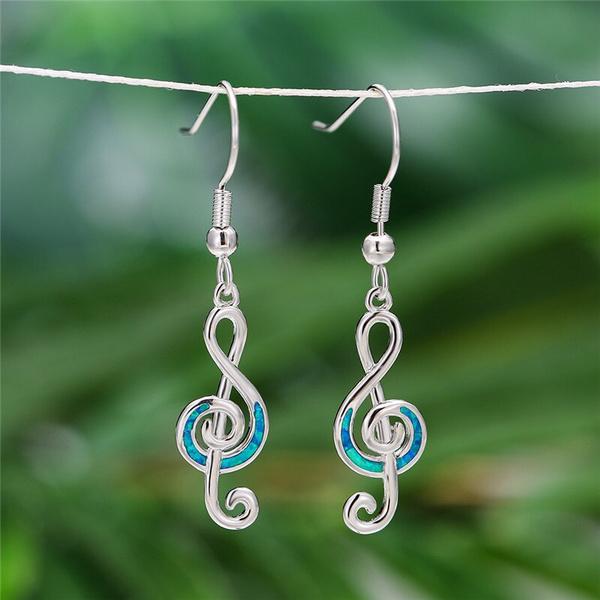 Blues, opalearring, Dangle Earring, Jewelry