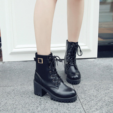Womens Boots, England, koreanversion, short boots