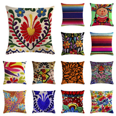 mexicanart, textile, linenpillow, Home & Living