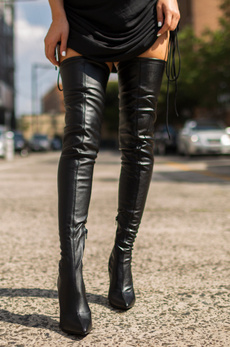 leather, liliana, Boots, Stiletto