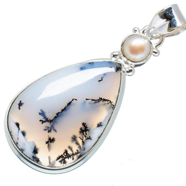 pearls, crystal pendant, Pendant, 925silverjewellery