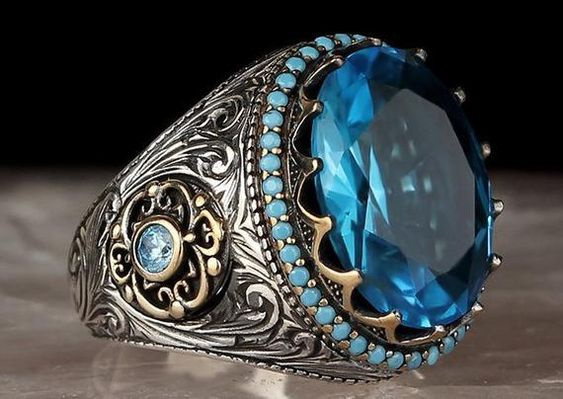 Sterling, ringsformen, Turquoise, Fashion