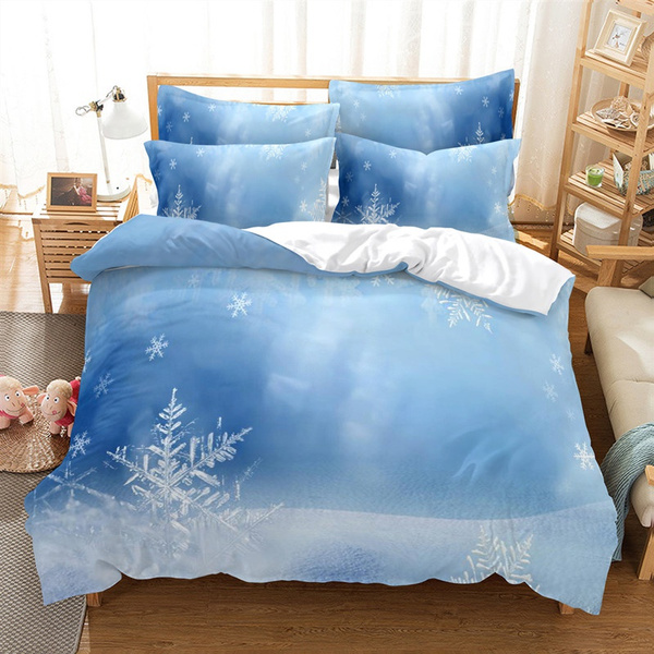 highthreadcountduvetcoverset3pieceduvetcover, Home Decor, beddingduvetcoverset, Snowflakes