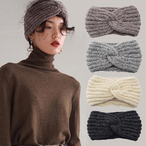 knittedhairband, knittedheadband, Winter, Elastic