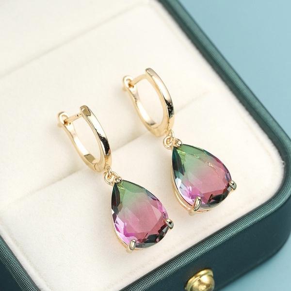 rainbow, proposalearring, Dangle Earring, Jewelry