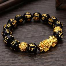 wristbandbracelet, Jewellery, obsidianbracelet, fengshui