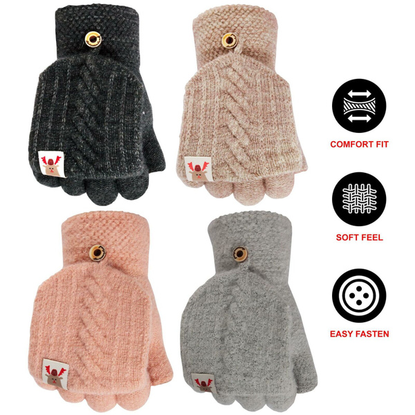 knitted, Winter, Elastic, menglove