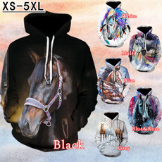 Couple Hoodies, Funny, horse, hooded