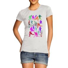 rainbow, menfashionshirt, silhouette, Cotton T Shirt
