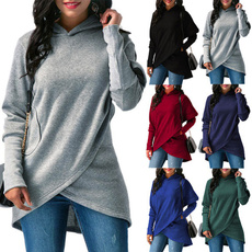 Women Sweater, hooded, Winter, Sleeve