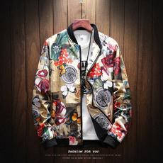 Fashion, menprintedjacket, Coat, Men